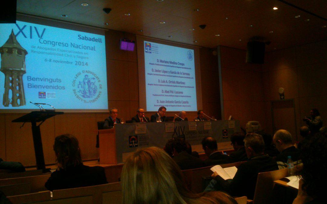 ADVISORIA participa en el XIV Congrés de l'Associació Espanyola de Responsabilitat Civil i Assegurança a Sabadell