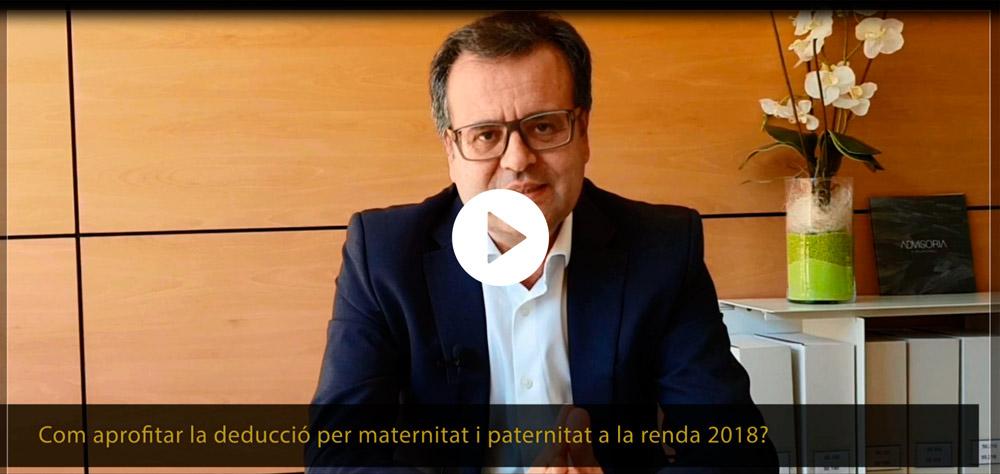 L'Ivo Florenza t'explica com utilitzar la deducció per maternitat i paternitat a la declaració de la renda
