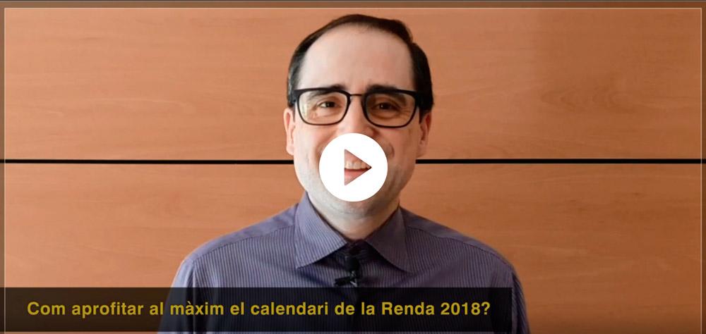 L'Alfred Nomen us explica com aprofitar al màxim el calendari de la renda